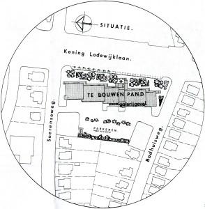 Het bouwplan van de Lodewijkveste uit de informatiebrochure.